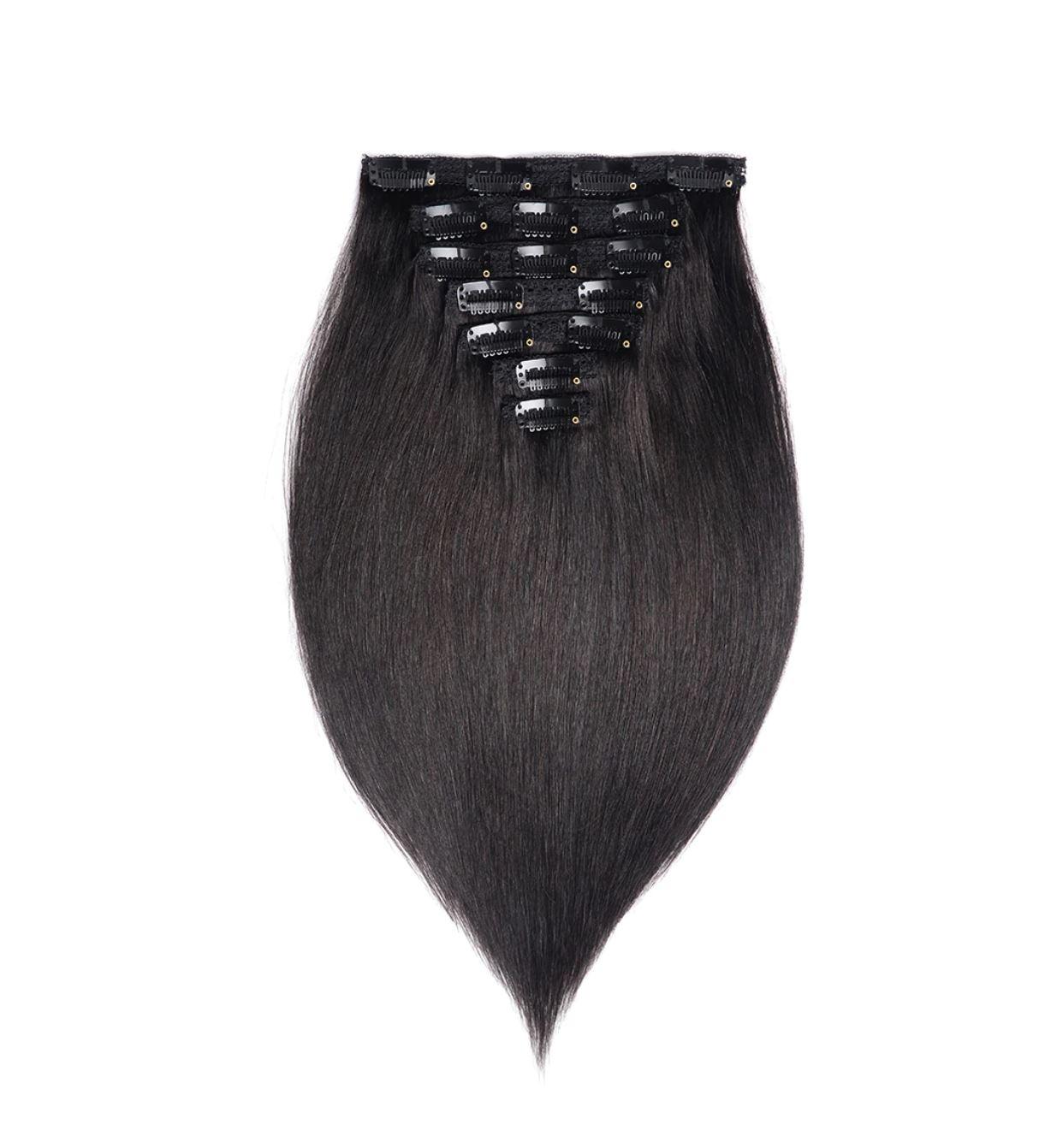 Clip-on Set Hair Extension Method